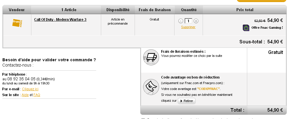 Call of Duty MW3 (FNAC)