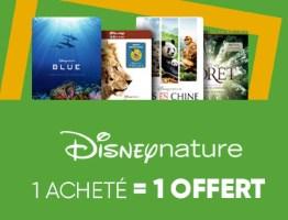 1 blu-ray Disney Nature acheté = 1 offert