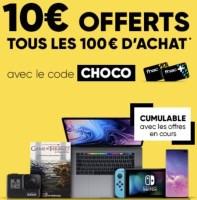 10€ offert tous les 100€ d'achats chez fnac