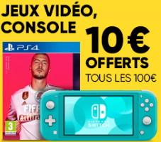10€ tous les 100€ d'achats chez fnac jusqu'au 16 septembre 2019