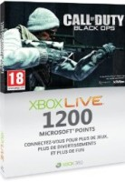 Carte 1200 MS Points Black Ops (xbox 360)