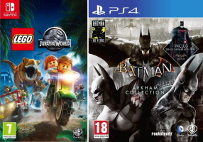 20€ de réduction pour l'achat de 2 jeux Warner (Switch, PS4, Xbox One)