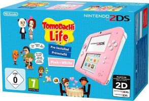 """2DS rose et blanche pack """"Tomodachi Life"""""""