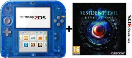 2DS transparente bleue + Resident Evil : Revelations