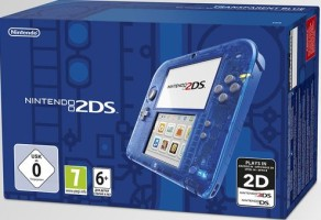 Console 2DS bleu transparent