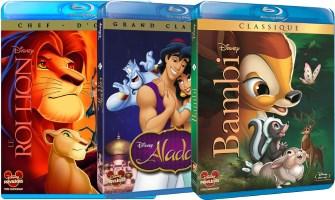3 blu-ray Disney
