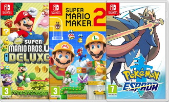 3 jeux Switch