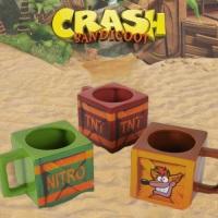 """Lot de 3 mugs carrés """"Crash Bandicoot"""""""