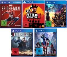 5 jeux PS4 ou Xbox One pour le prix de 3 sur amazon.de