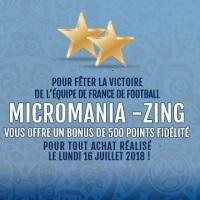 500 points offerts chez Micromania pour tout achat aujourd'hui