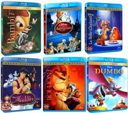 6 blu-ray Disney pour 40€