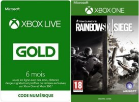 6 mois de Xbox Live + Rainbow Six : Siege
