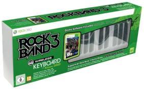 Clavier Pro Rock Band 3 sans fil + jeu Rock Band 3 (xbox 360)