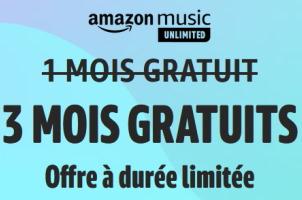3 mois gratuits d'abonnement à Amazon Music Unlimited