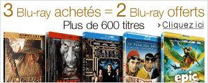 3 Blu-ray achetés = 2 blu-ray offerts