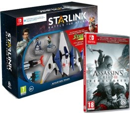 Assassin's Creed III Remastered + pack de démarrage Starlink (Switch)