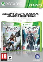 Compilation Assassin's Creed 4 Black Flag + Assassin's Creed Rogue (Xbox 360)