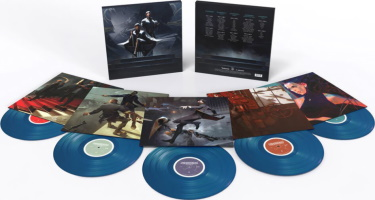 """Bande originale """"Dishonored: The Soundtrack Collection"""" en vinyles bleus"""