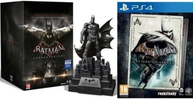 Batman Arkham Knight édition limitée + Batman : Return to Arkham (PS4)