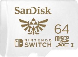 Carte mémoire microSDXC 64 Go modèle officiel Nintendo Switch