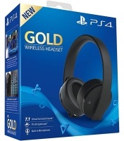 Casque sans fil Gold Sony Virtual Surround Sound 7.1 pour PS4