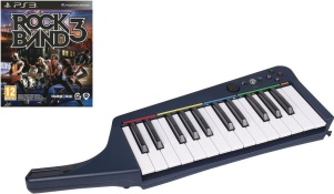 Clavier Pro Rock Band 3 sans fil + jeu Rock Band 3 (PS3)