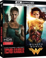 Coffret Tomb Raider + Wonder Woman (blu-ray 4K + blu-ray)