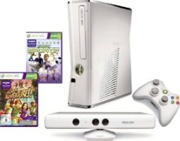 xbox 360 + kinect + kinect sports + kinect adventures