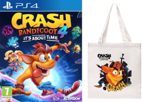 Crash Bandicoot 4: It's About Time (PS4) + tote bag offert