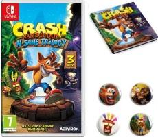 Crash Bandicoot N'Sane Trilogy (Switch) + badges et artbook offerts