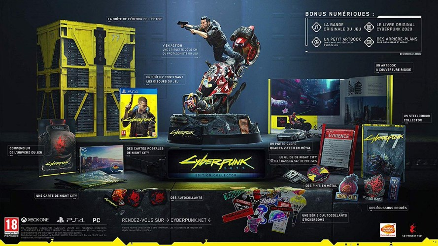 [2020-04-16] Cyberpunk 2077 edition collector (X-One - PS4) Cyberpunk-2077-edition-collector-ps4-contenu