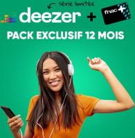 Abonnement un an de Deezer Premium + carte fnac+