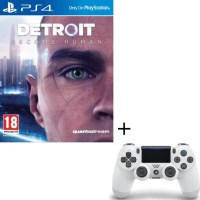 Detroit: Become Human (PS4) + DualShock 4 blanc