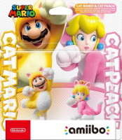 Double pack amiibo Mario chat et Peach chat