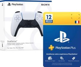 DualSense (PS5) + un an de PS+