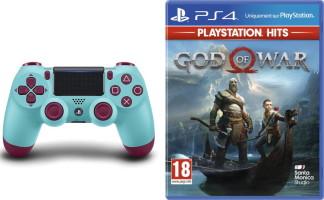 DualShock 4 Berry Blue + God of War