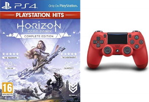 DualShock 4 rouge + Horizon: Zero Dawn Complete Edition édition PlayStation Hits (PS4)