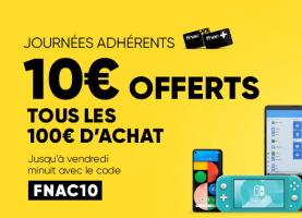 10€ offerts tous les 100€ d'achats