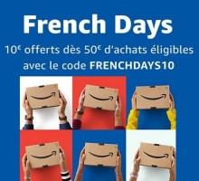 10€ de réduction à partir de 50€ d'achats chez amazon pour les french days