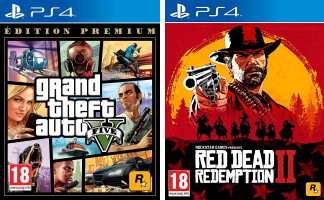 Grand Theft Auto V édition Premium (PS4) + Red Dead Redemption II (PS4)