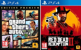 Grand Theft Auto V + Red Dead Redemption II (PS4)