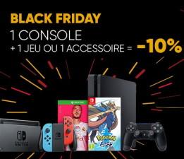 Une console + un jeu ou un accessoire acheté = 10% de réduction immédiate