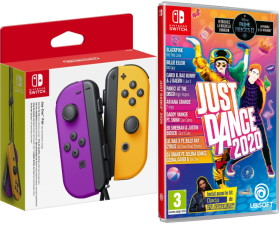 Paire de joy-con violet / orange + Just Dance 2020 (Switch)