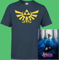 Lot t-shirt + poster métallique Nintendo