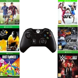 Manette Xbox One + 6 jeux