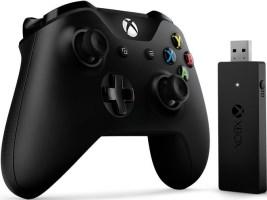 Manette Xbox One v3 noire + adaptateur sans fil pour PC