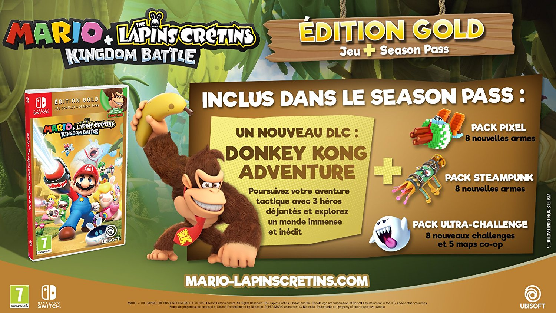 Mario The Lapins Crétins Kingdom Battle édition Gold Switch