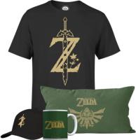 T-shirt + casquette + mug + coussin Zelda