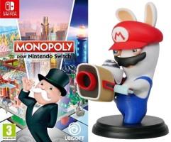 "Monopoly (Switch) + figurine ""Mario & les lapins crétins"""