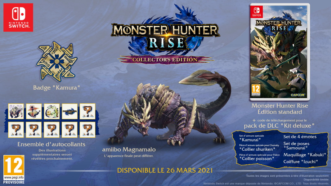 Monster Hunter Rise / Monster Hunter Stories 2 Monster-hunter-rise-edition-collector-switch-contenu